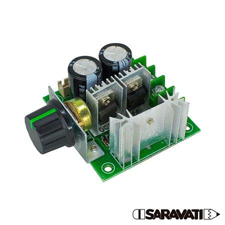 Controlador PWM 010547 12V a 40V 10A Motor DC Knob Plástico