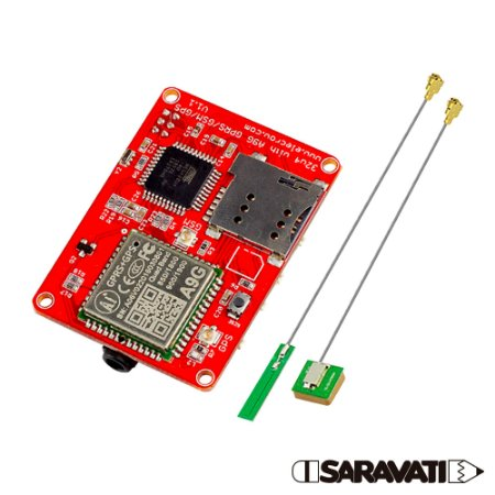 Módulo GSM GPS GPRS ATMEGA 32U4 + A9G