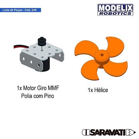 Modelix 249 - Motor MMF 1,5 a 6v DC +- 5000 RPM + Hélice