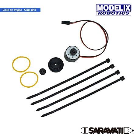 Modelix 845 - Motor DC DVD Grande Alta Rotação 3 a 6V DC
