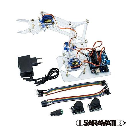 Braço Robótico Acrílico (Kit para montar) Completo
