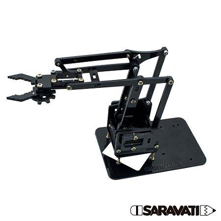 Braço Robótico PS Preto (Esqueleto + Parafusos para montar)