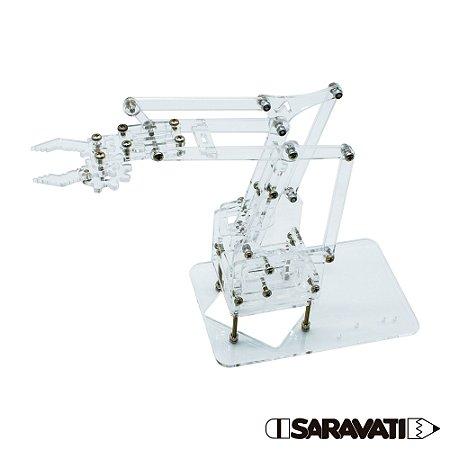 Braço Robótico Acrílico (Esqueleto + Parafusos para montar)