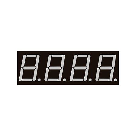 Display 7 Segmentos 4 Dígitos Anodo Comum SH-5461AS Vermelho