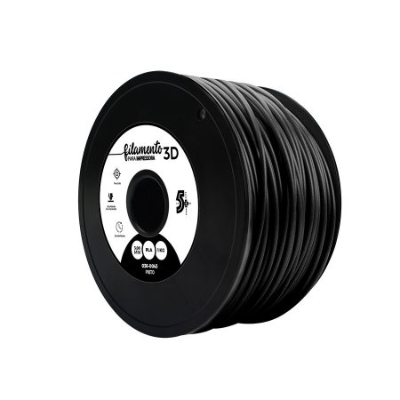 Filamento Impressoras 3D PLA 1Kg 3mm Preto