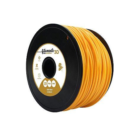 Filamento Impressoras 3D PLA 1Kg 3mm Dourado