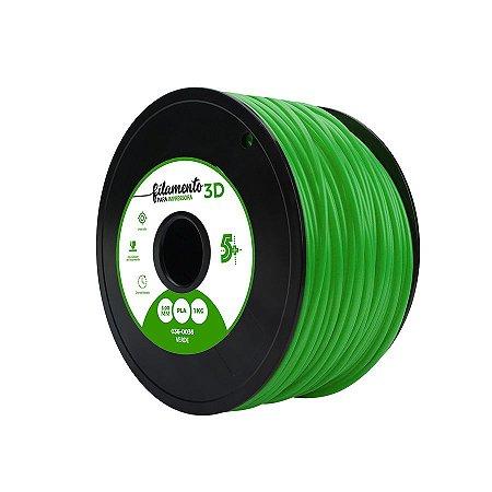 Filamento Impressoras 3D PLA 1Kg 3mm Verde