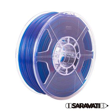 Filamento Impressoras 3D PLA 500g 1,75mm Azul Translúcido