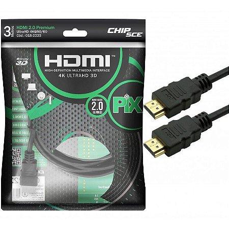 Cabo HDMI 2.0 Ultra HDTV 3D 4K 3 Metros