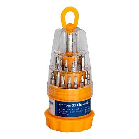 Kit Chaves de Precisão 31 em 1 Fenda Torx Philips Allen Y
