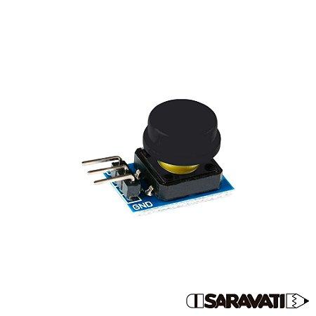 Módulo Botão 12mm Chave Táctil Push Button 3 Pinos Preto
