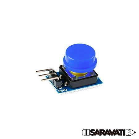 Módulo Botão 12mm Chave Táctil Push Button 3 Pinos Azul