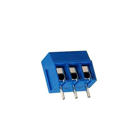 Borne Azul KF-3000 KRE 3 Terminais 180 Normal