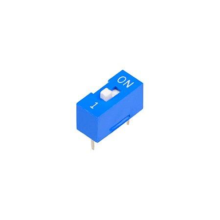 Chave DIP Switch KF1001 Azul 1 Via 180