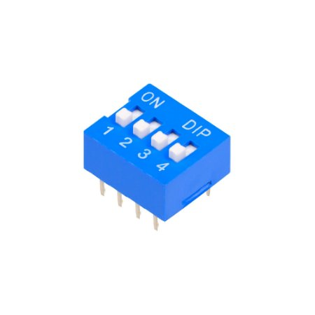 Chave DIP Switch KF1001 Azul 4 Vias 180