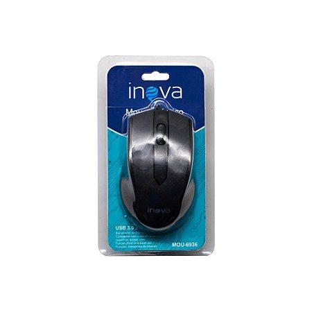 Mouse Óptico USB 1000 dpi LED MOU-6936 Inova