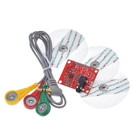 Módulo Sensor AD8232 Kit ECG Pulso e Frequência Cardíaca