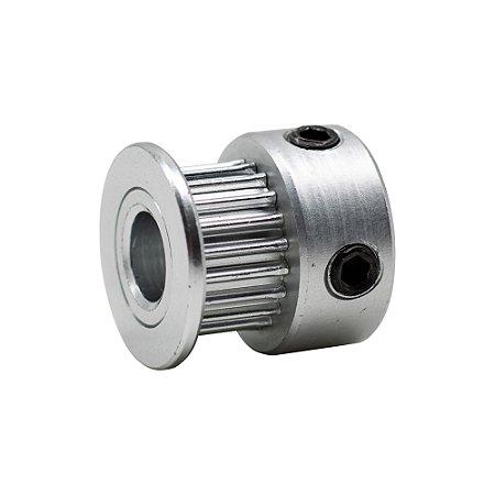 Polia para correia 6mm GT2-6MM 20 Dentes furo 6.35mm 3D Printer