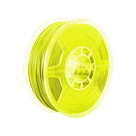 Filamento Impressoras 3D PLA 1Kg 3mm Amarelo Marca Texto