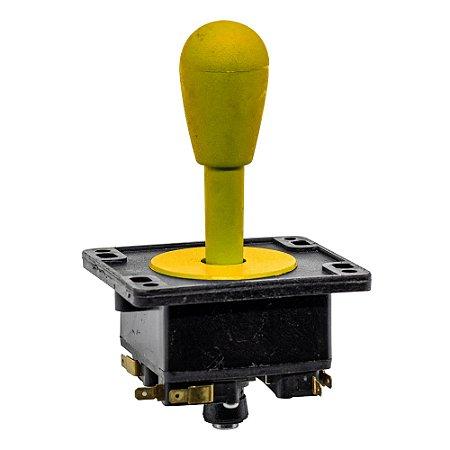 Joystick Controle Arcade Fliperama Amarelo 1Un