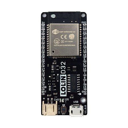 Placa ESP32 ESP-WROOM-32 WiFi Bluetooth Wemos Lolin D32 V1