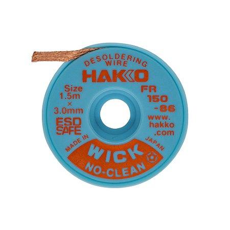 Fita Malha Dessoldadora Wick Hakko 1,5m x 3mm FR150-86