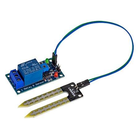 Sensor de Umidade do Solo Higrômetro com Relé