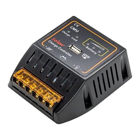 Controlador de Carga Solar 20A 12V-24V USB 5V CMU-2420
