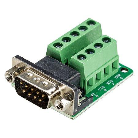 Módulo Adaptador DB9 Serial RS232 Macho para Borne