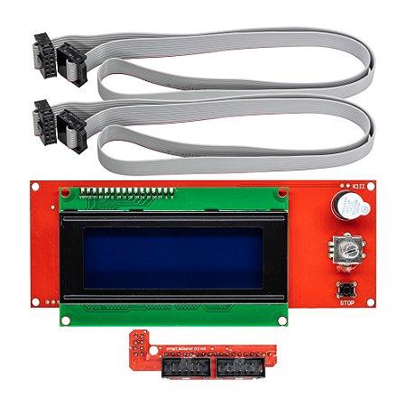 Display LCD 20x4 Controlador Gráfico RepRap Impressoras 3D