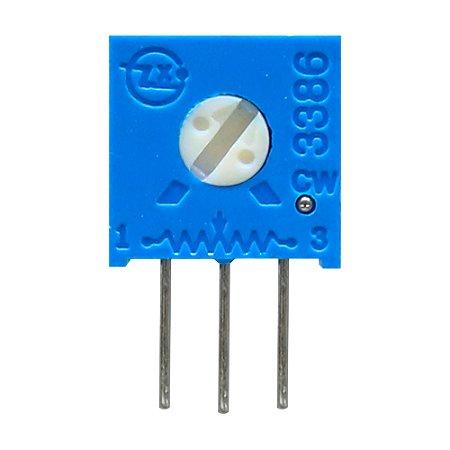 Trimpot 1 Volta 3386H H501 500R Ohms Vertical