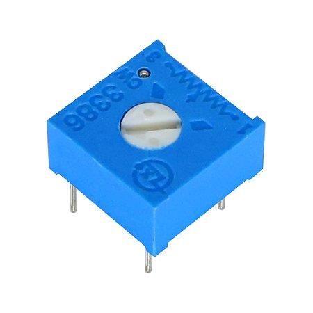 Trimpot 1 Volta 3386F F501 500R Ohms Horizontal