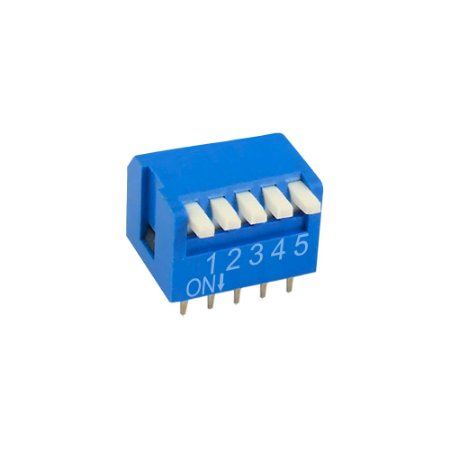 Chave DIP Switch KF1002 5 Vias 90 Azul
