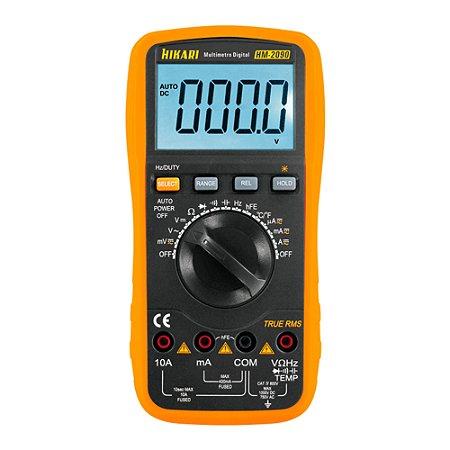 Multímetro Digital True RMS Display LCD Hikari HM-2090