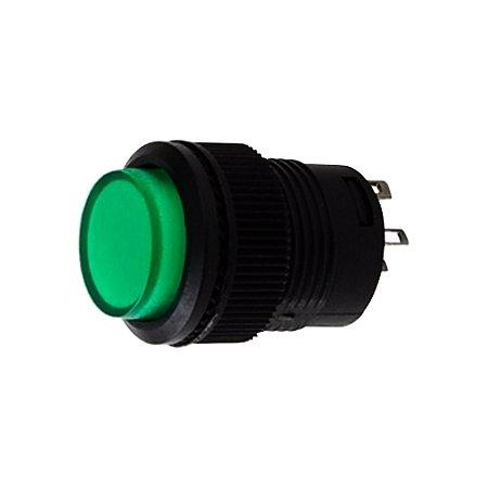 Botão Pulsativo Trava Neon 3A 250VAC R16-503AD 4T (Verde)