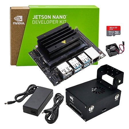 Jetson Nano Dev Kit Nvidia + Fonte Case Metal Waveshare 64GB