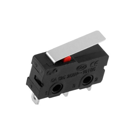 Chave Micro Switch KW11-3Z-5 3T 3A 250V Haste 18mm