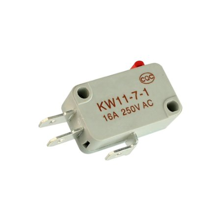 Chave Micro Switch KW11-7-1 3T 16A Cinza