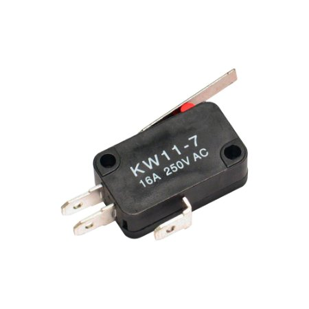 Chave Micro Switch KW11-7-3 3T 16A Haste 27mm