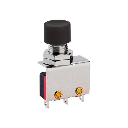 Botão Push Button Micro Switch KW11-3Z-1-105 3T 3A Preto