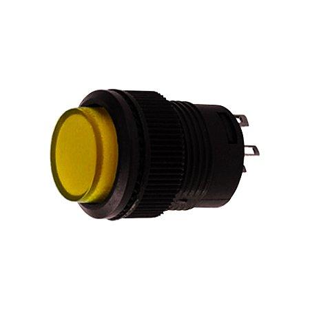 Botão Pulsativo Neon 3A 250VAC R16-503AD 4T (Amarelo)