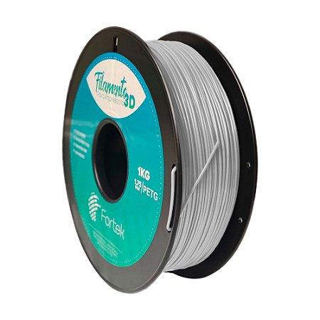 Filamento para Impressoras 3D PET-G 1Kg 1,75mm Cinza