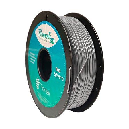 Filamento para Impressoras 3D PET-G 1Kg 1,75mm Prata