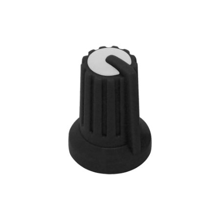 Knob KA481 Pot. Rotativo Eixo 6mm Preto / Branco