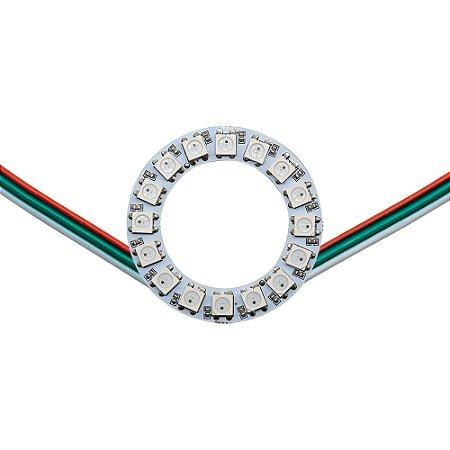 Anel LED RGB Endereçável 5050 WS2812 16 LEDs 48mm