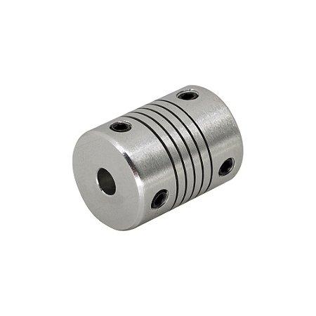 Acoplamento Flexível 5mm x 5mm Motor de Passo CNC 3D Printer