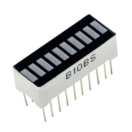 Barra Gráfica de LED 10 Segmentos Azul