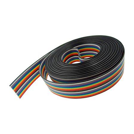 Cabo Flat Cable Ribbon Colorido 20x26 26 AWG 20 Vias 1 Metro