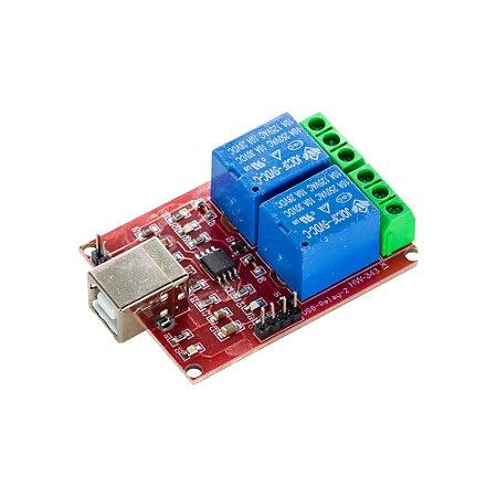 Módulo Relé 2 Canais 5V 10A USB HW-343
