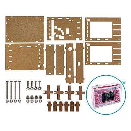 Case para Osciloscópio DIY DSO138 Acrílico Transparente